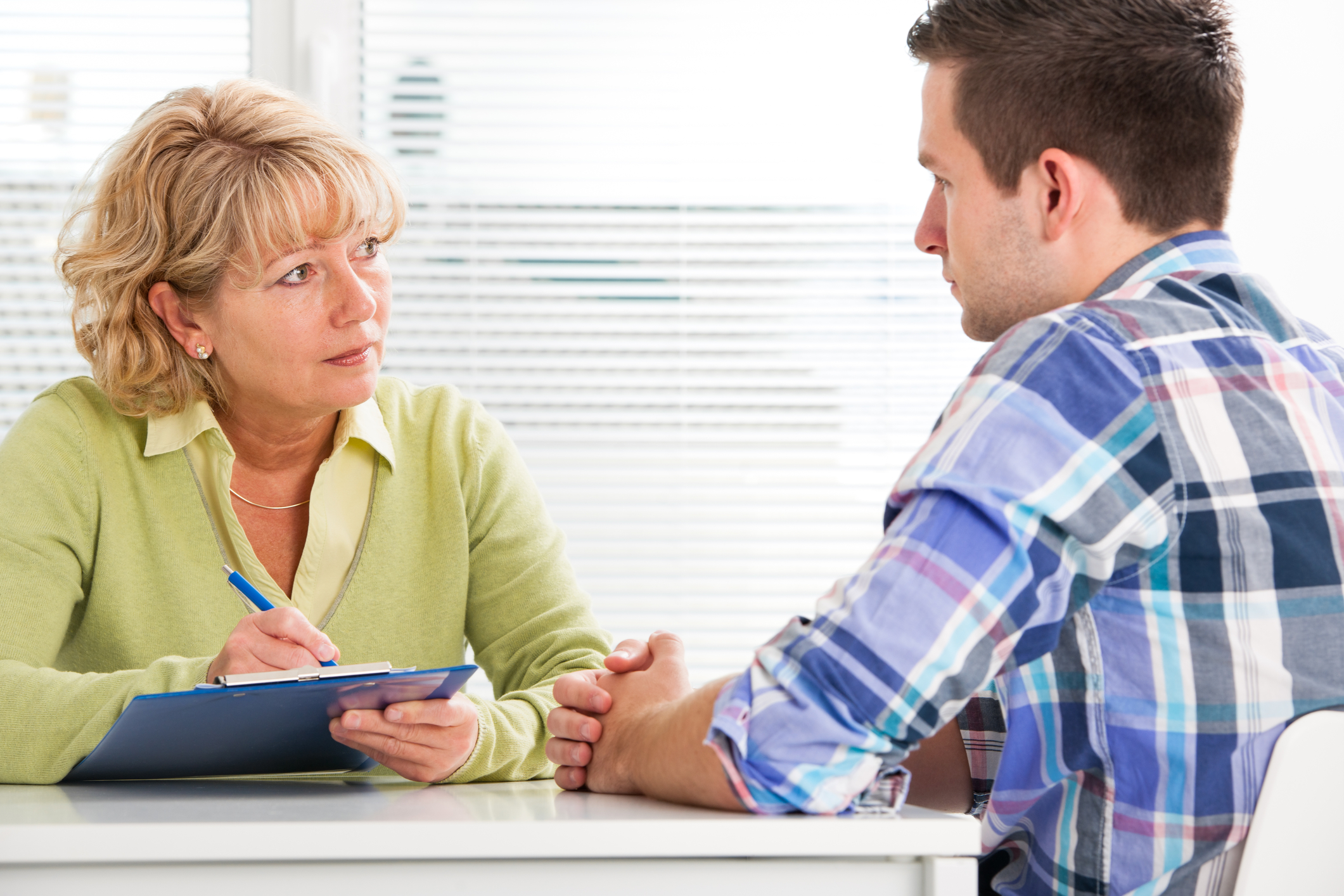 picture of OT interviewing a client